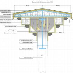 Planung von Ersatzlebensräumen für Mehlschwalben und Fledermäuse an einer frei stehenden Mastkonstruktion